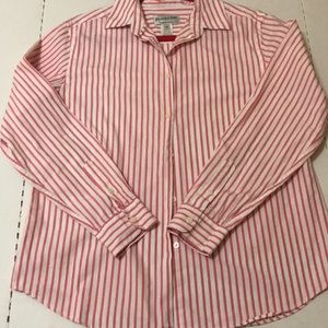 Pendleton White and Pink Stripped Button Up size M
